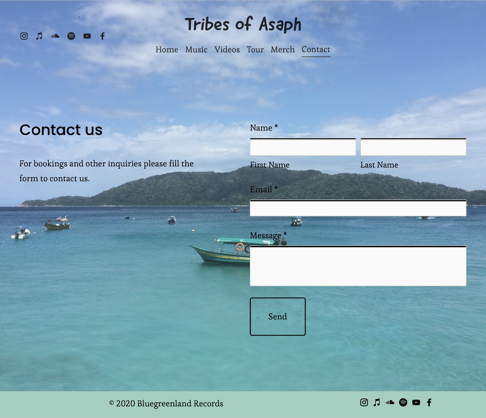 Tribes of Asaph - Contact
