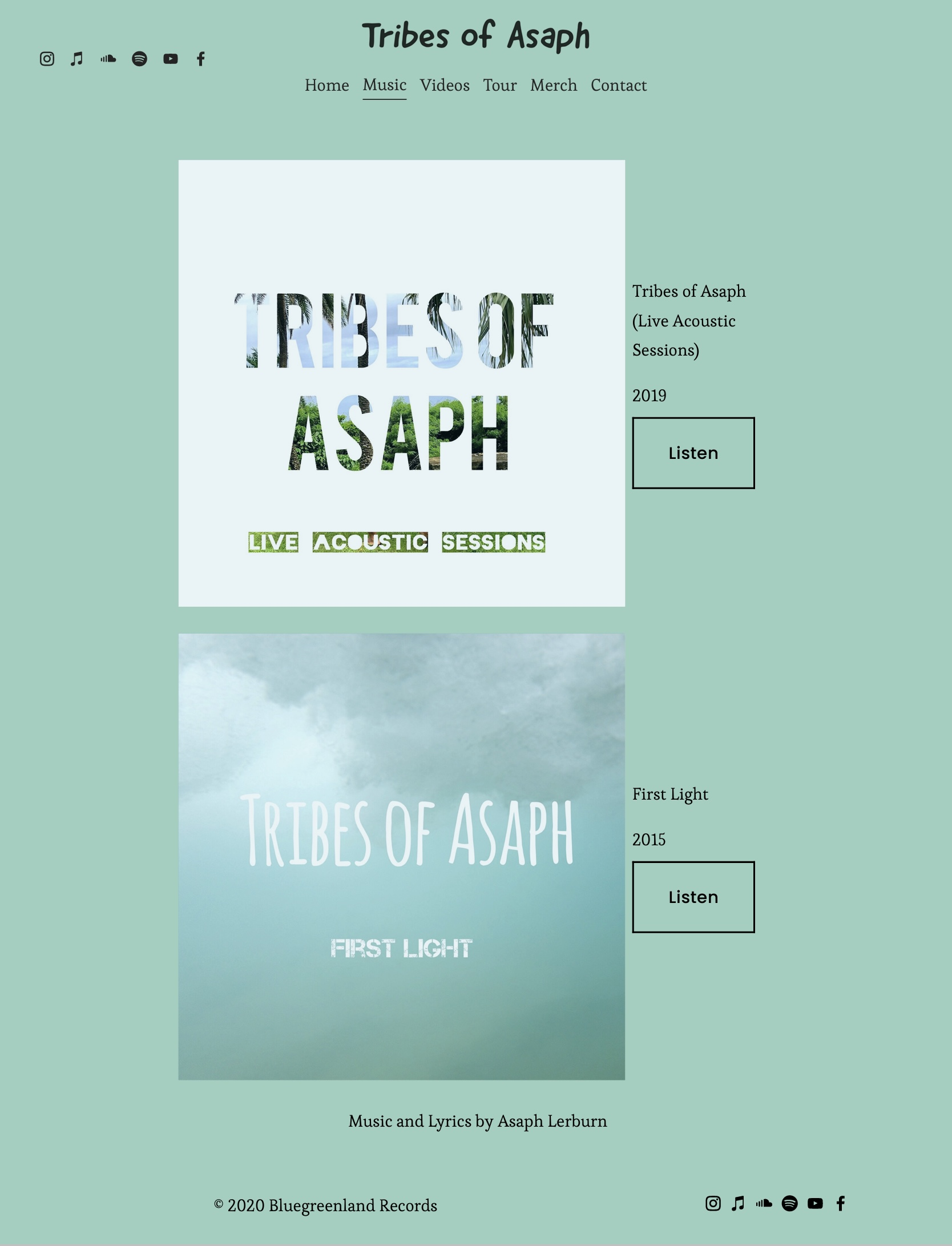 Tribes of Asaph - Music
