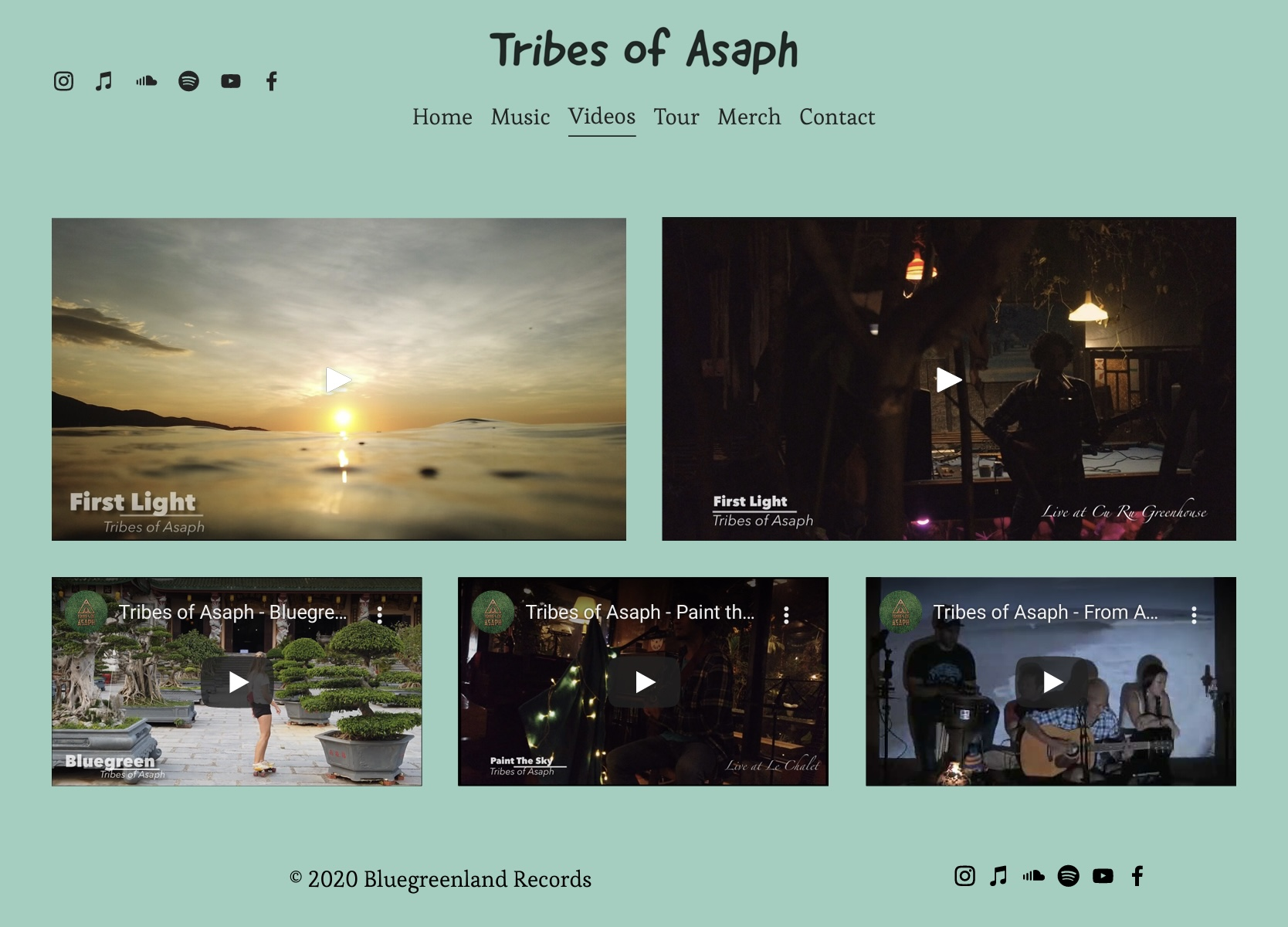 Tribes of Asaph - Videos